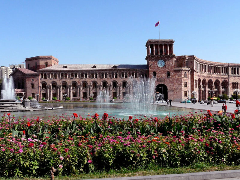 Platz Der Republik In Eriwan