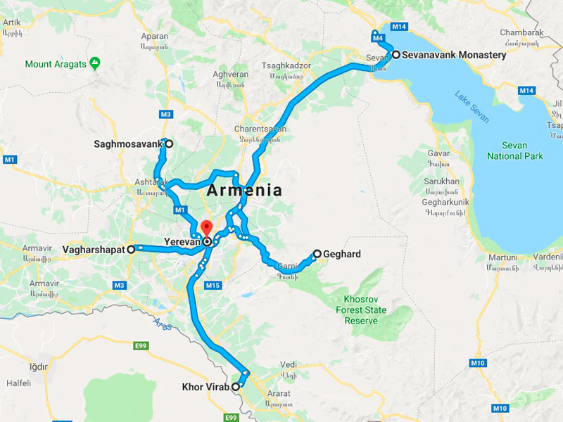 map-Food & Wine – Gastronomic Tour to Armenia