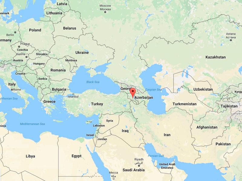 map-Voyage d'été en Arménie pour 4 jours