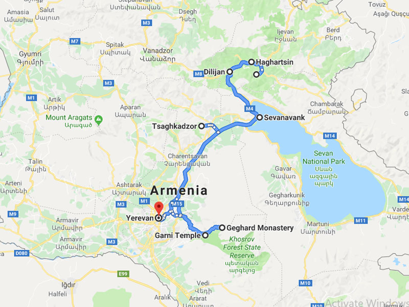 map-Group Tour to Armenia – 4 days