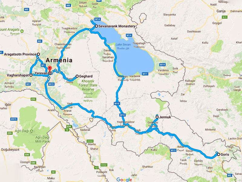 map-Mountainbike Tour durch Armenien