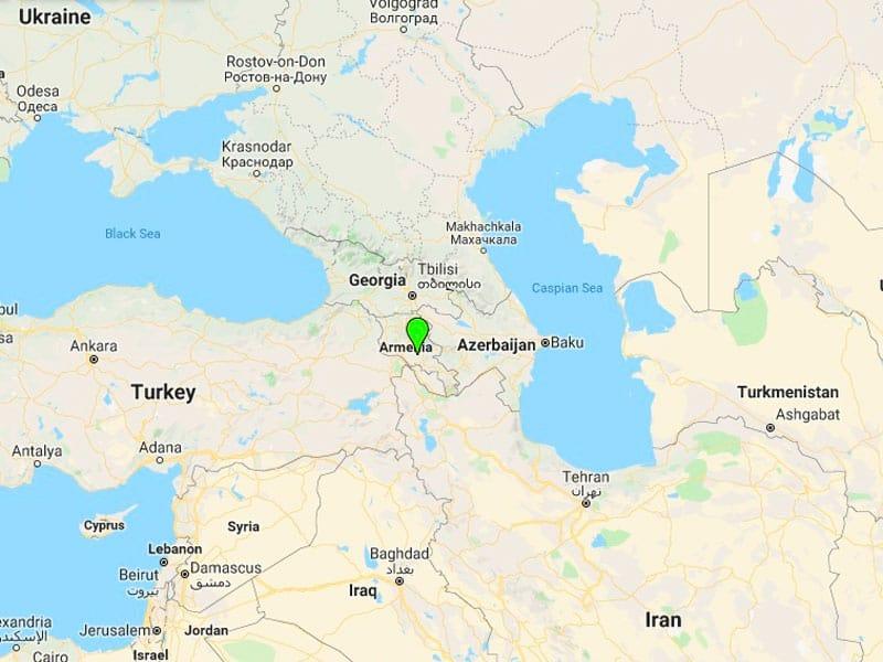 map-Групповой тур по Армении — 8 дней