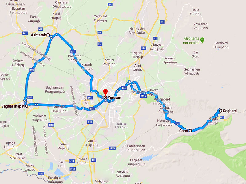 map-Tour to Armenia for Schoolchildren