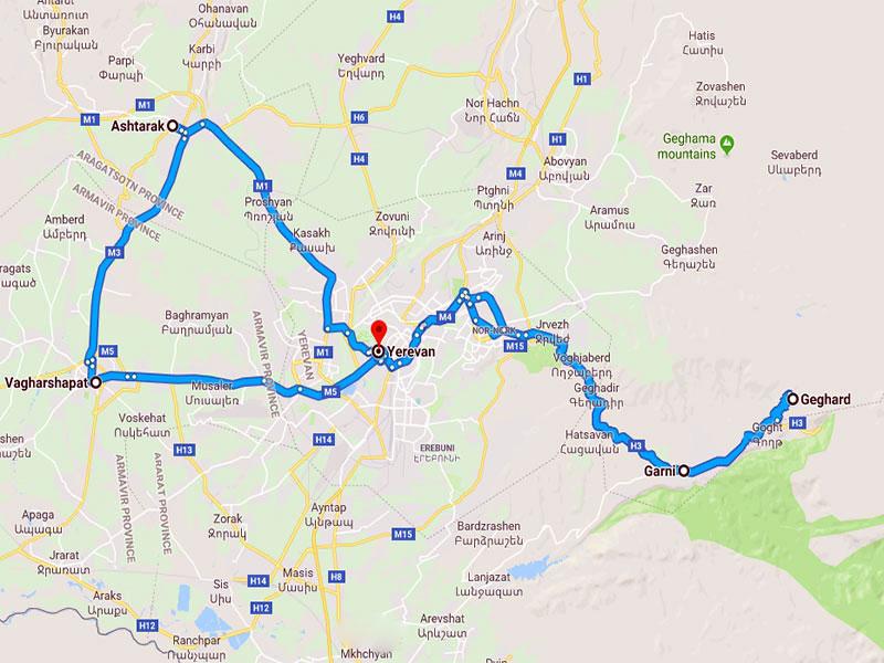 map-Тур в Армению для школьников