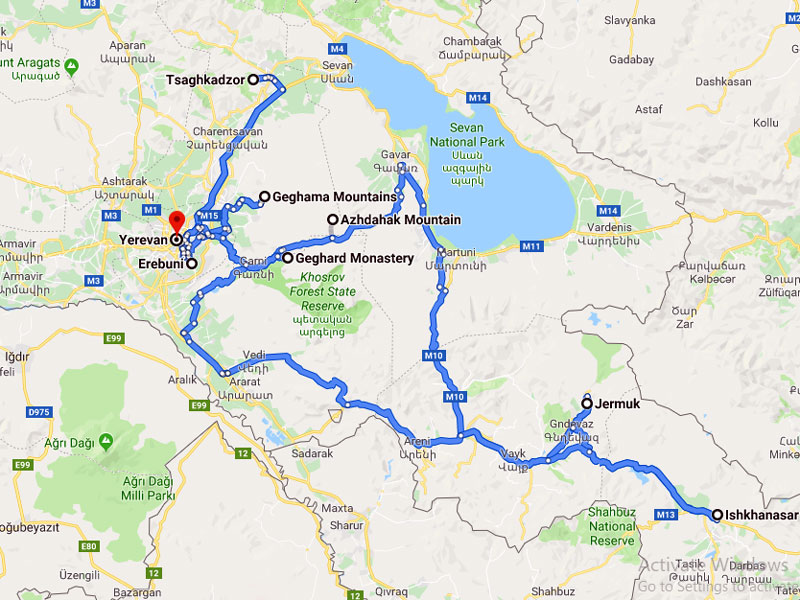 map-Heliskiing Tour in Armenia