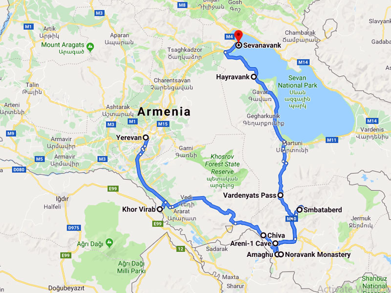 map-Rock Climbing in Armenia – 7 days