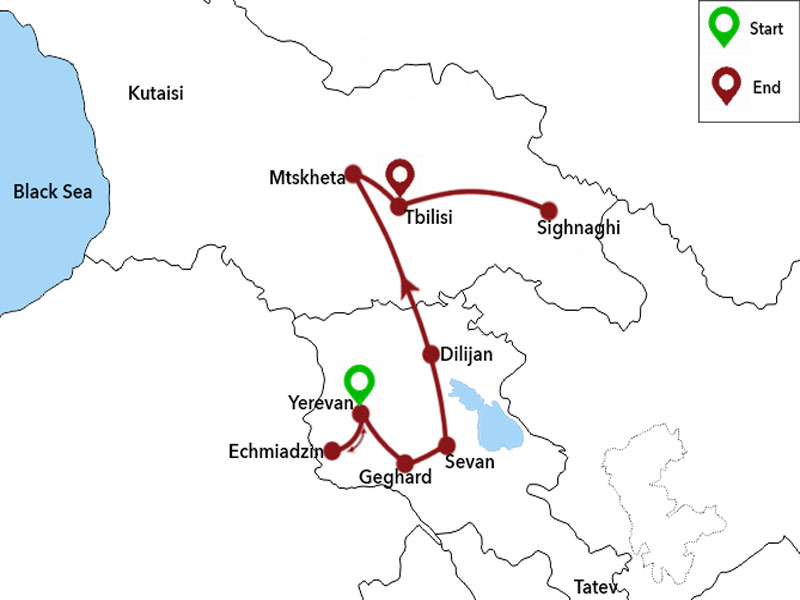 map-Kurztrip: Armenien und Georgien
