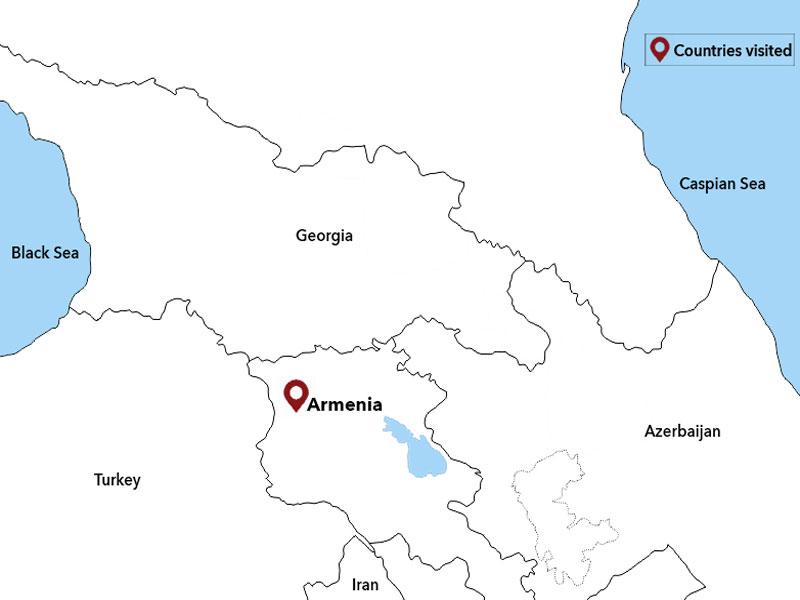 map-Voyage en Arménie d'automne pour 4 jours