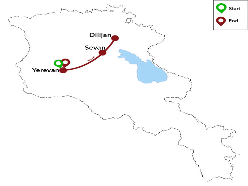 map-Тур по Армении на велосипедах