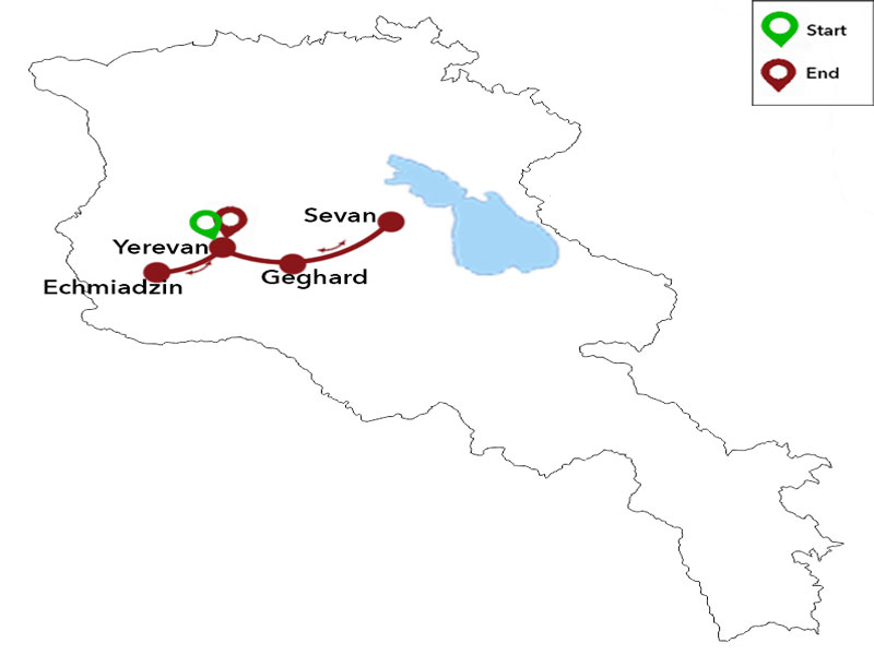 map-Summer Tour to Armenia - 4 days