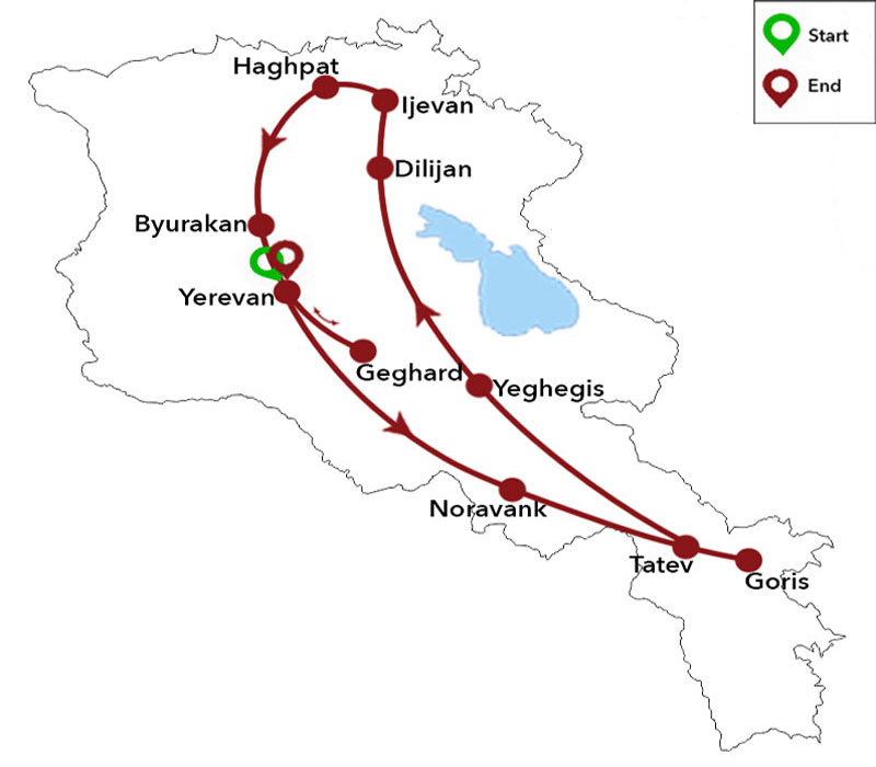 map-Walking Tour in Armenia