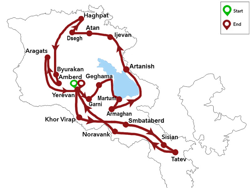 map-Expedition Tour in Armenia