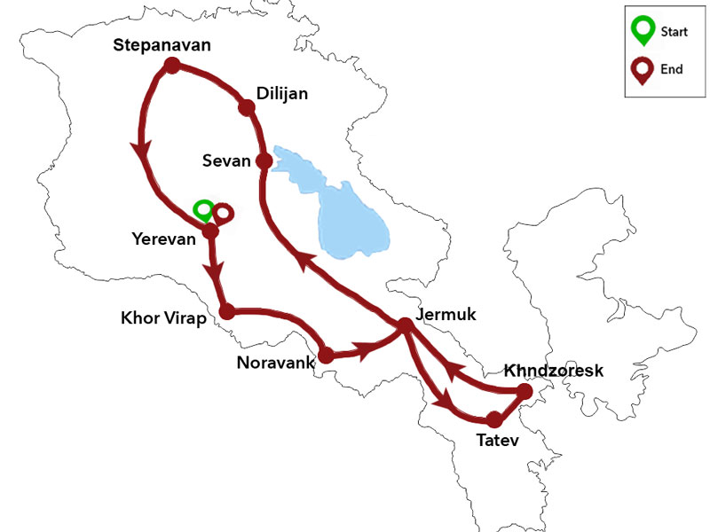 map-Pandemic Safe Trip to Armenia